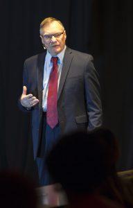 rick raemisch speaking at the 150th uw law talks